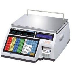 cas cl5000 label printing price computing scale with daily sales reports