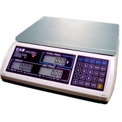 CAS S-2000JR Price Computing Scale RS232 Serial Communication 60 lb. LCD