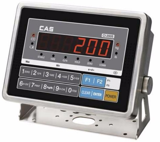 cas ci-200s stainless steel digital weight indicator