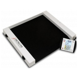 detecto cr-1000d roll-a-weigh portable wheelchair scale