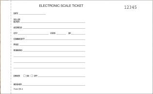 scale ticket numbered es 4 qty 1000