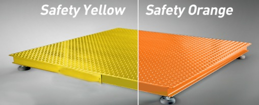 floor scale painted safety orange or yellow