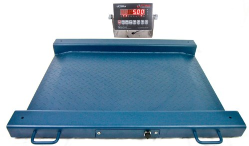 optima scale op-917 barrel weighing scale with built in ramps