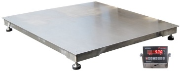 optima op916ss stainless steel 4x4 5000 lb floor scale