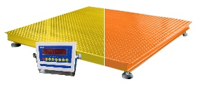 Safety Color Orange Yellow Floor Scale NTEP 4'x4' 10,000 lb