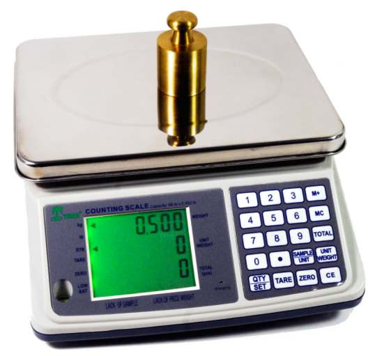 mct plus 16 lb counting scale with full keypad